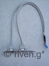 Intestazione USB CABLE@USB 2.0 COMPATIBLE@SHIELDED cavo di aggiungere 2 x porte USB per il tuo PC