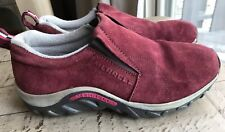 Merrell Jungle Moc  Red Shoes Sneakers Slip On 6 Youth Girls Eu 37.5 Womens 7