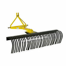 Titan Attachments 5 Ft Landscape Rake With Bolt On Wheels For Compact Tractors