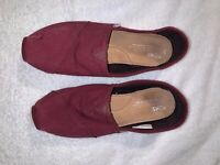 Toms Womens Shoes Size 8 Slip On Canvas Flats