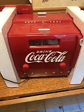 Coca-Cola Cooler Radio 1949 Reproduction With Box