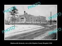OLD LARGE HISTORIC PHOTO OF MADISONVILLE KENTUCKY, THE COUNTY HOSPITAL c1940