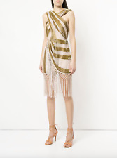BNWOT ALICE MCCALL GOLD SURREALIST DRESS - SIZE 8 AU/4 US (RRP $450)