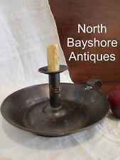 Antique 1800s New England  Shaker Sponge Cake Tin Push Up Candlestick aafa
