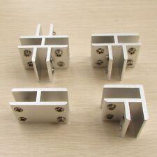 Glass Clamp Clips Bracket for Handrails 8-10mm glass Aluminium Brackets 4 types