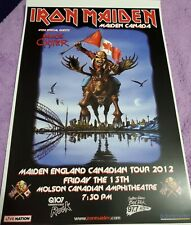 Iron Maiden 1012 Toronto Tour Poster