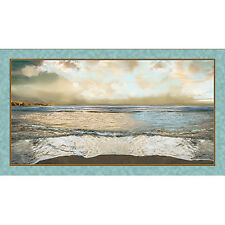 Artworks by QT - Nuance Coastal Digitally Printed Cotton Fabric Panel 24 x 44