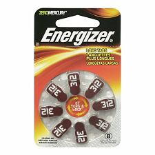 Energizer Batteries AZ312DP EZ Turn and Lock Hearing Aid, Size 312, 8 Count