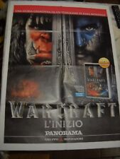LOCANDINA POSTER MANIFESTO WARCRAFT L'INIZIO DVD FILM cm 62,00 x 86,00 cm