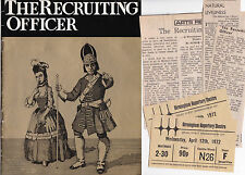 Theatre programme The Recruiting Officer   Birmingham 1972 + cuttings + tickets