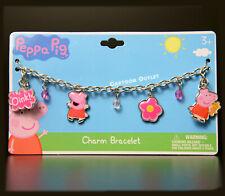 PEPPA PIG GIRLS CHARM BRACELET CHILD XMAS GIFT BIRTHDAY GIFT METAL BRACELET