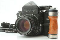 [NEAR MINT w/Grip] Pentax 6x7 67 TTLFinder + SMC T 105mm f/2.4 Lens From Japan