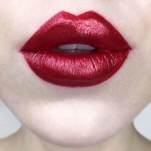 Kat Von D Everlasting Glimmer Veil Lipstick 'Dazzle' Red Shimmer NIB
