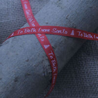 10mm DESIGN YOUR OWN PERSONALISED/PRINTED CHRISTMAS SATIN RIBBON - gift wrap