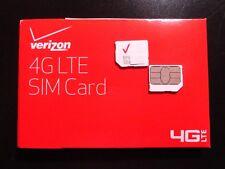 New Verizon Micro 3Ff Sim Card Prepaid- Postpaid Service Compatible