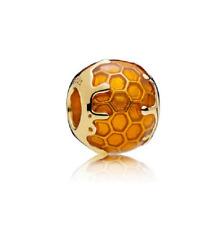 New Bead Charm Golden Bee Honey Sunshine 100% 925 Sterling Silver pandora