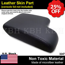 Leather Armrest Console Lid Cover for BMW E36 3 Series 1992-1999 Black LHD