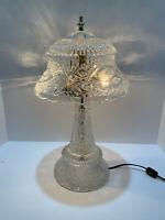 Echt Bleikristall Crystal Desk Table Lamp Birds Germany