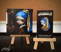 JASMINE BECKET GRIFFITH Girl With The Pearl Earring Mini Canvas Cutie Art + Pin