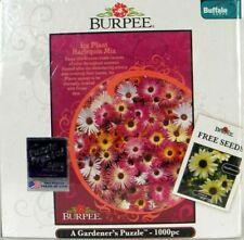New Burpee A Gardener's Puzzle 1000 piece Ice Plant Harlequin Mix pink flower