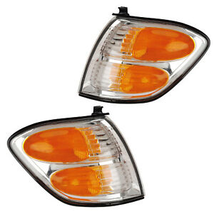 Corner Turn Signal Lights Pair Set for 01-04 Toyota Sequoia/00-04 Tundra Dbl Cab