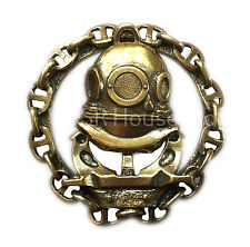 Navy Diver Russian Spetsnaz Military Badge Brass Screw At The Back