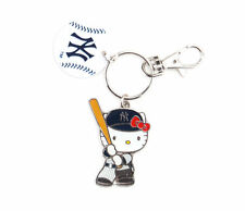 Sanrio Officially Licensed MLB Hello Kitty New York Yankees Baseball Key Ring