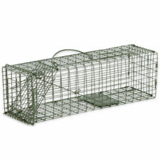 Humane Animal Trap 16x5x5 Steel Cage Live Rodent Control Skunk Rabbit Opossum