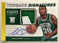 2014-15 Panini Threads Marcus Smart RPA Auto RC #'d 19/25 Prime Patch Celtics