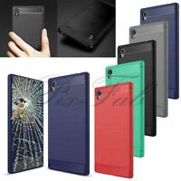 For Sony Xperia XA1 Ultra G3121 G3221 New Genuine Gel  Rubber Phone Case + Glass