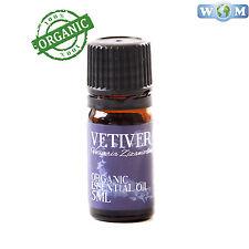 Vetiver Orgánico Aceite Esencial 100% Puro - 5ml (Co 5 veti)