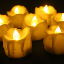 LED Tea Lights Flameless Candles 12pcs Flickering Tealights Timer 1.2 x 1.4 inch
