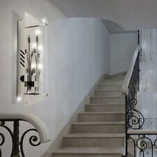 Spot Wand Luxus Leuchte Strahler Treppen Haus Flur Büro Lampe Chrom Glas WOFI