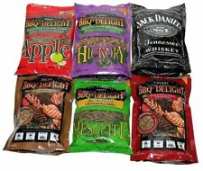 BBQrs Delight 6 x 1 lb BBQ Variety Pellets Barbecue Smoking Wood Chips BBQ'rs
