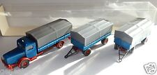 WIKING HO 1/87 TRUCK CAMION BÜSSING 8000 + 2 REMORQUES + 2 TRAILERS IN BOX