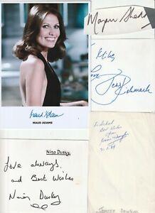 Job Lot #160 Good Lot of 19x signatures of Entertainers, Pics, Actors,Actresses