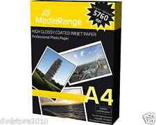 100 Fogli Carta Fotografica formato A4 Stampante Mrink107 Risma Inkje Stampanti