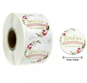 Thank you for supporting a small business Thank You Stickers Packaging Stickers