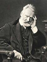 Victor Hugo From Life Antique Goupil Photogravure Portrait Art Print 19th C