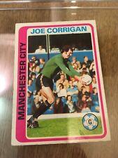 Manchester City TOPPS Football Card MCFC Joe Corrigan 1979 Blue Back #37