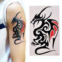 Imperméable À L'Eau Temporaire Tatouage Sticker Body Art 10.5 *6Cm Dragon Tot fw