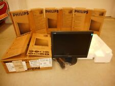 "4 Philips Computer Monitor Lcd 15"" Laptop Desktop Office Extension Screen Bulk"