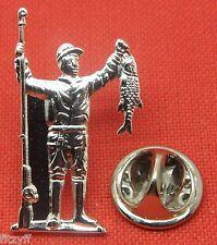 Fisherman Lapel Pin Badge Fisher Rod & Fish Gift Angler Fishing