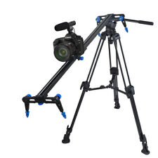 "Aluminium Alloy 31.5"" Camera Slider DSLR Video DV Track Dolly Rail w/ Stop Break"