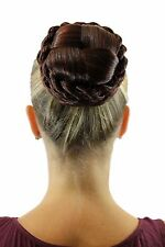 hairpiece plait Bun Knot of Hair Braided Costume Red-Brown Mix tc2041-2+ 33/35M
