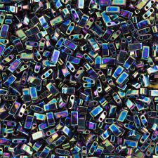Miyuki Half Tila Beads Medium Blue Iris 5mm TLH455 7.8g Tube (K93/5)