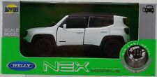 WELLY JEEP RENEGADE TRAILHAWK WHITE 1:34 DIE CAST METAL MODEL NEW IN BOX