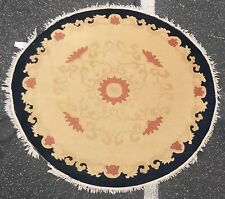 An Art Deco Design Chinese Rounded Rug 5' X 5'