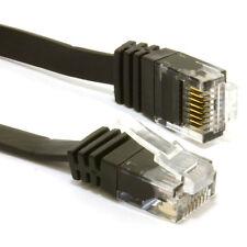 6m FLAT CAT6 Ethernet LAN Patch Cable Low Profile GIGABIT RJ45 BLACK [007978]