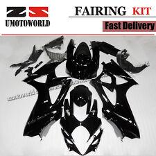 Professional Painting ABS Fairing Kit for Suzuki GSXR1000 2007-2008 K7 Black US